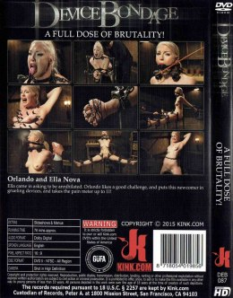 EROTYCZNY FILM DVD DEVICE BONDAGE A Full Dose of Brutality